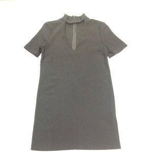 A - LINE MOD STYLE BLACK ZARA WOMAN DRESS NWOT szS